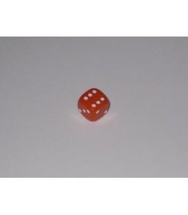 Dado Opaco 6 Caras - Naranja (10mm)