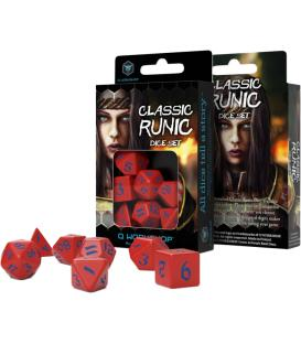 Q-Workshop: Classic Runic Dice Set (Red & Blue)