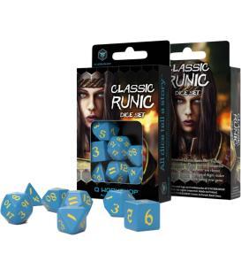 Q-Workshop: Classic Runic Dice Set (Blue & Yellow)