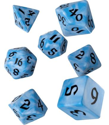 Q-Workshop: Classic Runic Dice Set (Glacier & Black)