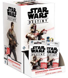 Star Wars Destiny: Operaciones Encubiertas (Expositor con 36 Sobres de Ampliación)