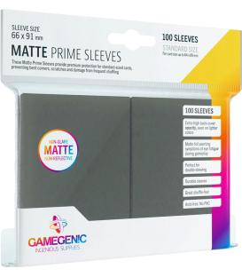 Gamegenic: Pack Matte Prime Sleeves (Gris Oscuro) (100)