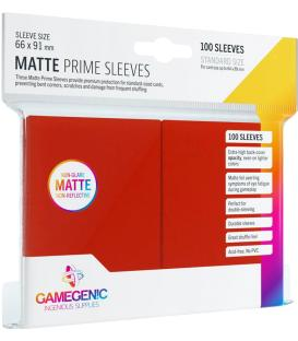 Gamegenic: Pack Matte Prime Sleeves (Rojo) (100)