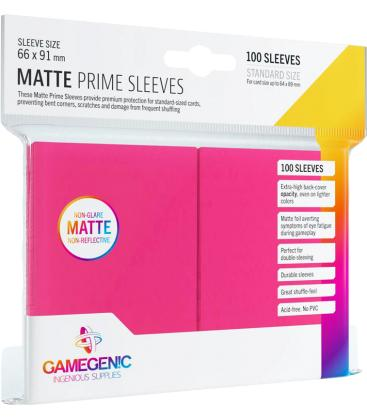 Gamegenic: Pack Matte Prime Sleeves (Rosa) (100)