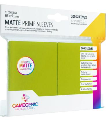Gamegenic: Pack Matte Prime Sleeves (Verde Lima) (100)