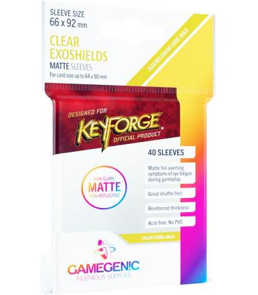 Gamegenic: Matte Keyforge Exoshields Clear 66x92mm (40)