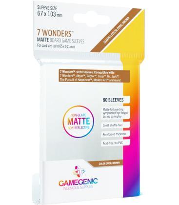 Gamegenic: Matte 7 Wonders Sleeves 67x103mm (80)