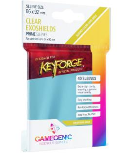 Gameforge: Prime Keyforge Exoshields Clear 66x92mm (40)