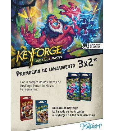Keyforge: Mutación Masiva (2 Mazos + 1 Mazo de Regalo)