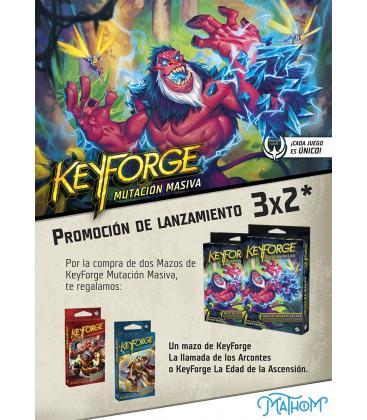 Keyforge: Mutación Masiva (2 Mazos Deluxe + 1 Mazo de Regalo)
