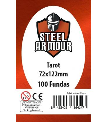 Fundas Steel Armour (70x120mm) PREMIUM Tarot (100) - Exterior 72x122mm