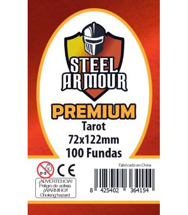 Fundas Steel Armour (70x120mm) PREMIUM Tarot (100) - Exterior 72x122mm