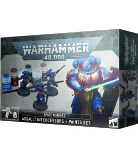 Warhammer 40,000: Space Marines (Assault Intercessors + Paint Set)