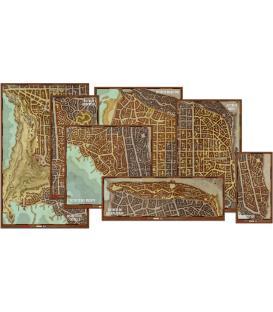 Dungeons & Dragons: Los Distritos de Waterdeep (Set de Mapas)