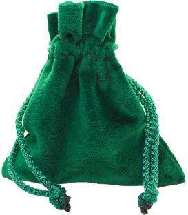 Bolsa Drawlab - Terciopelo Verde