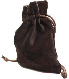Bolsa Drawlab - Terciopelo Marrón