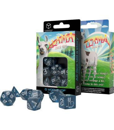 Q-Workshop: Llama Shimmering (Dark Blue & White)