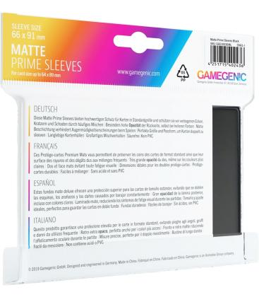 Gamegenic: Pack Matte Prime Sleeves (Negro) (100)
