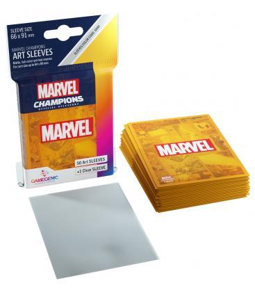 Gamegenic: Marvel Champions Art Sleeves 66x91mm (50) (Orange)
