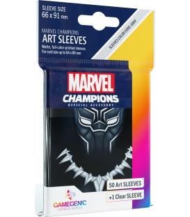 Gamegenic: Marvel Champions Art Sleeves 66x91mm (50) (Black Panther)
