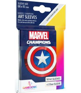 Gamegenic: Marvel Champions Art Sleeves 66x91mm (50) (Captain America)