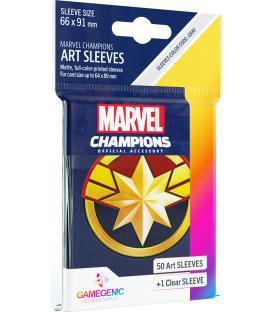 Gamegenic: Marvel Champions Art Sleeves 66x91mm (50) (Captain Marvel)