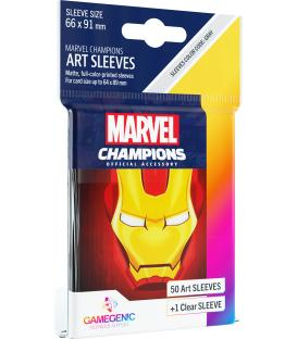 Gamegenic: Marvel Champions Art Sleeves 66x91mm (50) (Iron Man)