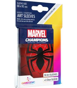 Gamegenic: Marvel Champions Art Sleeves 66x91mm (50) (Spider-Man)