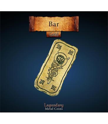 Legendary Metal Coins: Gold 50 Bar (1)