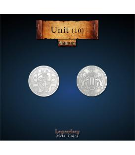 Legendary Metal Coins: Unit Platinum Coin (10)
