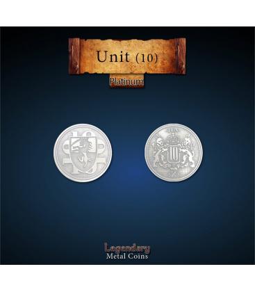 Legendary Metal Coins: Unit Platinum Coin (10)