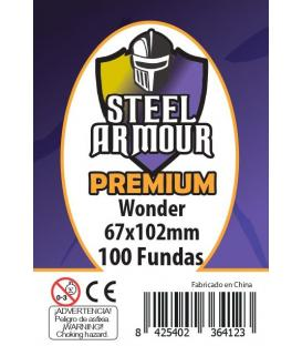 Fundas Steel Armour (65x100mm) PREMIUM Wonder (100) - Exterior 67x102mm