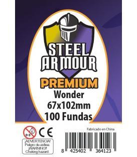 Fundas Steel Armour (65x100mm) PREMIUM Wonder (100) - Exterior 67x102mm