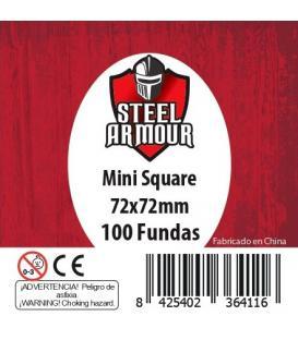 Fundas Steel Armour (70x70mm) Mini Square (100) - Exterior 72x72mm