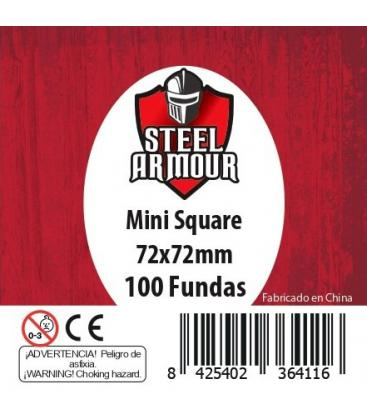 Fundas Steel Armour (70x70mm) Mini Square (100) - Exterior 72x72mm