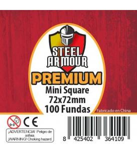Fundas Steel Armour (70x70mm) PREMIUM Mini Square (100) - Exterior 72x72mm