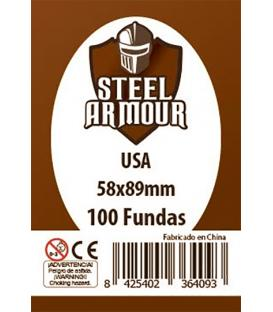 Fundas Steel Armour (56x87mm) USA (100) - Exterior 58x89mm