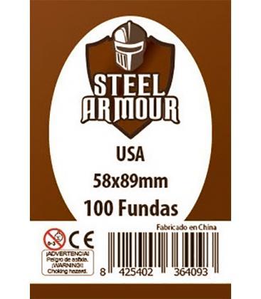 Fundas Steel Armour (56x87mm) USA (100) - Exterior 58x89mm
