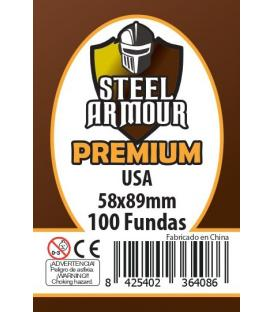 Fundas Steel Armour (56x87mm) PREMIUM USA (100) - Exterior 58x89mm
