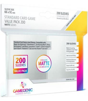 Gamegenic: Matte Standard Card Game Value Pack 66x91mm (200)