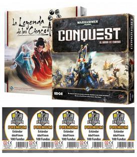 Pack W40P - Warhammer 40.000: Conquest + Leyenda de los Cinco Anillos LCG (+ Fundas Premium)