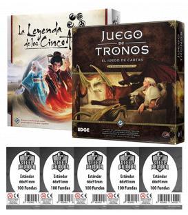 Pack AGOTF - Juego de Tronos LCG (2ª Edición) + Leyenda de los Cinco Anillos LCG (+ Fundas)
