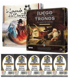 Pack AGOTP - Juego de Tronos LCG (2ª Edición) + Leyenda de los Cinco Anillos LCG (+ Fundas Premium)