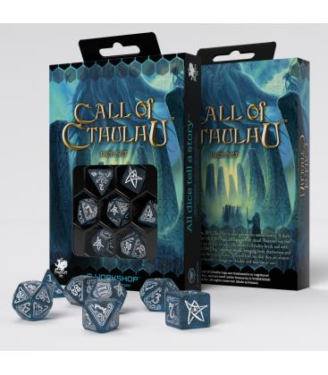 Q-Workshop: Call of Cthulhu (Abyssal/White) Dice Set