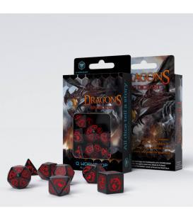 Q-Workshop: Dragons RPG Dice Set (Black/Red)