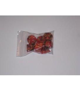 Bolsa 7 Dados: Nebulosa Rojo / Negro