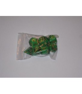 Bolsa 7 Dados: Nebulosa Verde / Negro