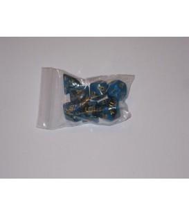 Bolsa 7 Dados: Nebulosa Azul / Negro