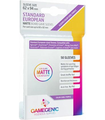 Gamegenic: Matte Standard European-Sized Sleeves 62x94mm (50)