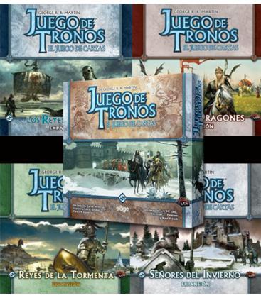 Pack Juego de Tronos LCG 1ª Edición: Caja de Inicio + 4 Expansiones de Casa